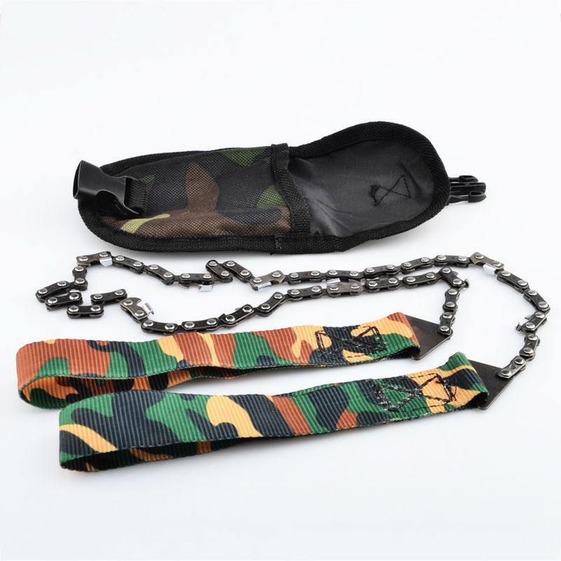 Outdoor Survival Tool 65 Manganese Steel Hand Felling Saw Portable Hand Chain Saw - Camouflage usb am to af cable 1 5m length