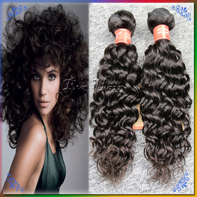 24 Inch Brazilian Curly Wave Bundles 2pcs Queen Virgin Hair Kinky
