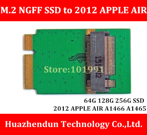 New Arrivals  M.2  NGFF  SSD  to  2012/2013 APPLE  Macbook  AIR A1466 A1465  64G  128G  256G SSD  Add on Cards PCBA