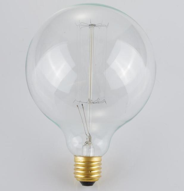 LightInBox Wholesale Price 40piece E27 40W Retro Edison Style Light Bulbs  G125 Tungsten Lamp 220V Incandescent