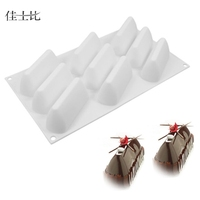 Non-stick Silicone Chocolate Molds Triangle Cone Shaped Jelly Ice Molds Cake Mould Baking Tools Mould Making Silicone Rubber