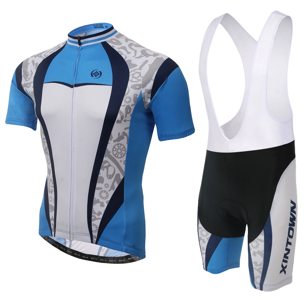 XINTOWN Breathable Mtb Bike Wear Clothes Custom Cycling Jersey Short Sleeve Set Ropa Maillot Ciclismo BIB Set SBS016 summer breathable bicycle bike mtb wear cycling short sleeve jersey jacket cloth clothing maillot ropa ciclismo shorts pant bib