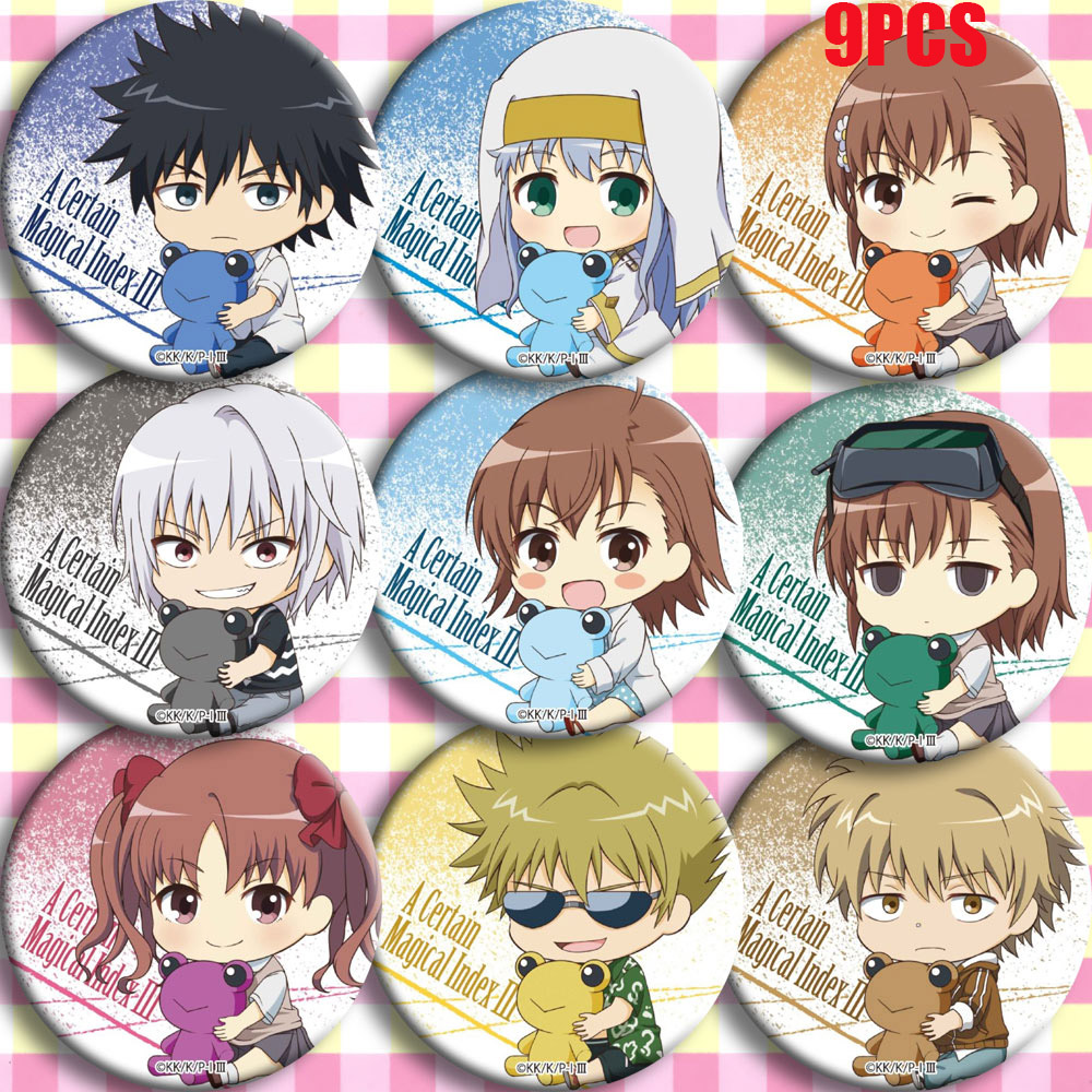 Japan Anime A Certain Magical Index Misaka Mikoto Cosplay Bedge Cartoon Collect Backpacks Bags Badges Button Clothes Brooch Pins
