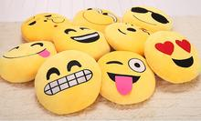 30cm Cute Creative Emoji Pillow Soft  Plush Toy Doll Round Emoticon Smiley Cushion Gift Home Decor Sofa Bed  Pillow
