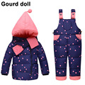 Value! Children's girls 90% Warm Duck Down clothing set kids winter jacket overalls for girl down & parkas Suitable 2-4 years