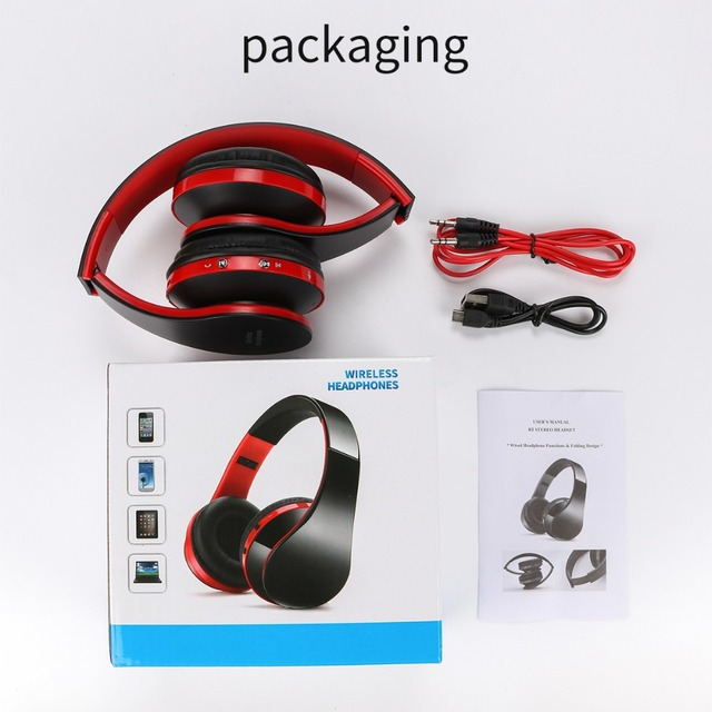 Wireless Bluetooth Headset Headphones Stereo Foldable Sport Earphone bluetooth earphone Microphone headset and earhook 2