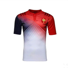 2016 High Quality france maillot euro Rugby Jersey Sleeve Rugby Shirt For Men Adult Short
