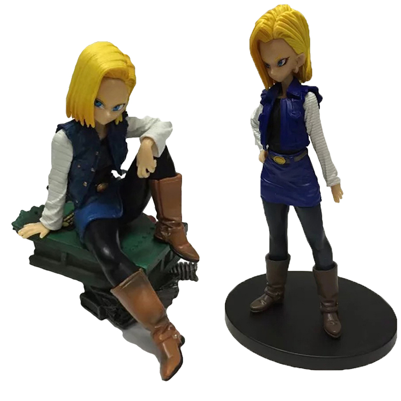 10-15CM Japanese classic anime <font><b>figure</b></font> <font><b>Dragon</b></font> <font><b>ball</b></font> <font><b>sexy</b></font> Android 18 lazuli standing/sitting Ver. PVC <font><b>Action</b></font> <font><b>Figure</b></font> Collectible Mod image