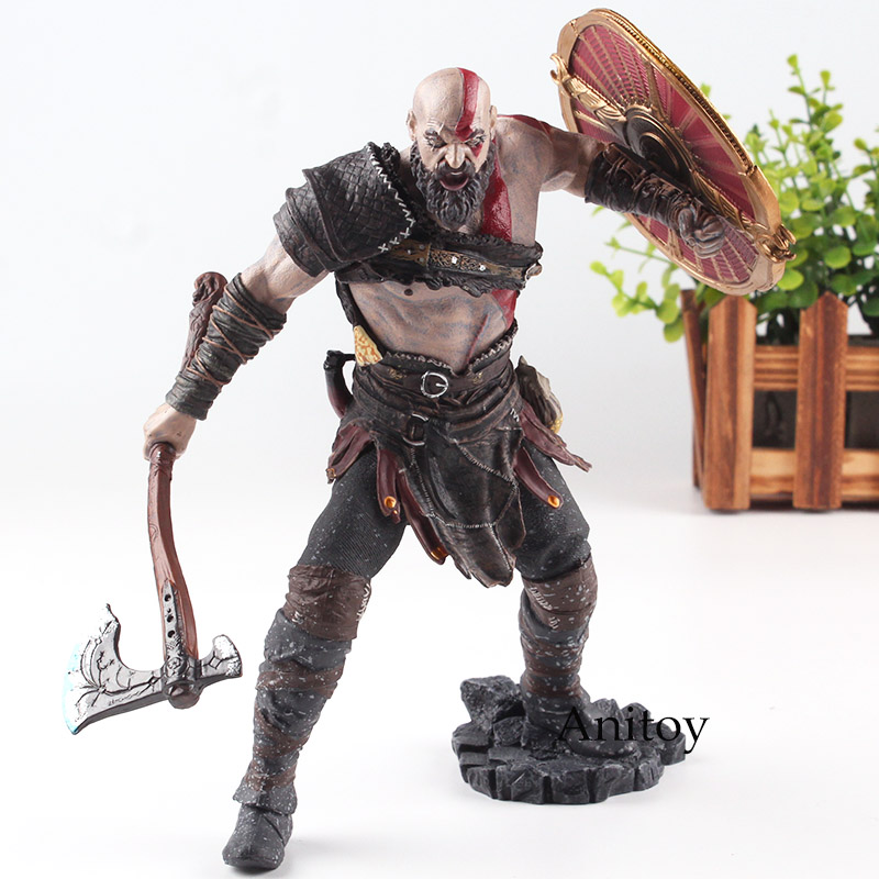 Original God of War 4 Kratos PVC Action Figure Collectible Model Toy Kratos God of War Game Action Figures Kratos Figure Statue x8c 07 decorative part for syma x8c