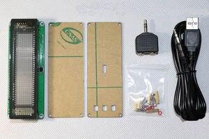 Image 2 - AK7115 VFD الموسيقى الطيف عرض محلل الصوت ستيريو مستوى المؤشر إيقاع VU متر VFD colck + التحكم عن بعد مكبر للصوت
