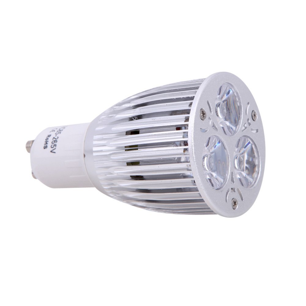 CSS GU10 6W LED Plant Grow Light Hydroponic Lamp Bulb 2 Red 1 Blue Energy Saving for Indoor Flower Plants Growth Vegetable Gre