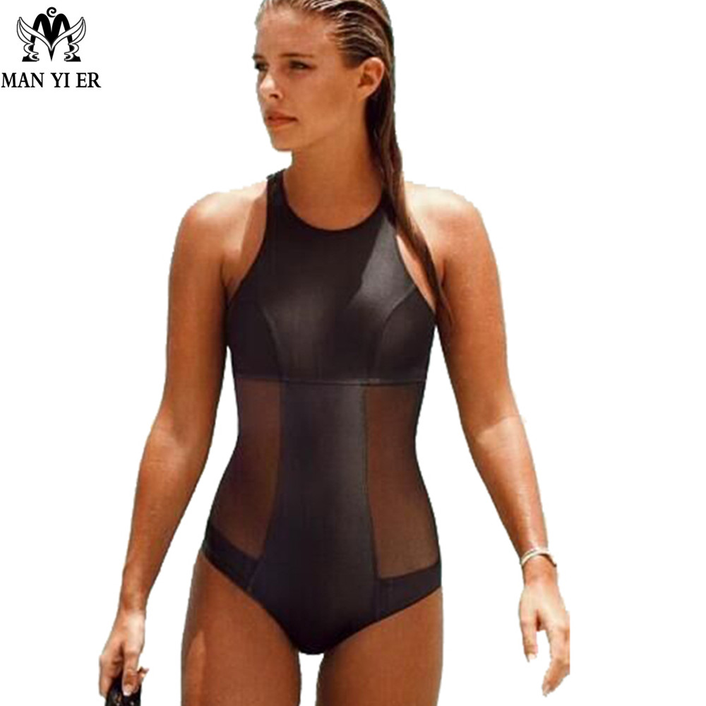 MANYIER PU Lace Patchwork Hollow One-piece Swimsuit Low Neck Backless Push Up Swimwear Slim Bodysuit Jumpsuit for Water Sports billet alu folding adjustable brake clutch levers for motoguzzi griso 850 breva 1100 norge 1200 06 2013 07 08 1200 sport stelvio
