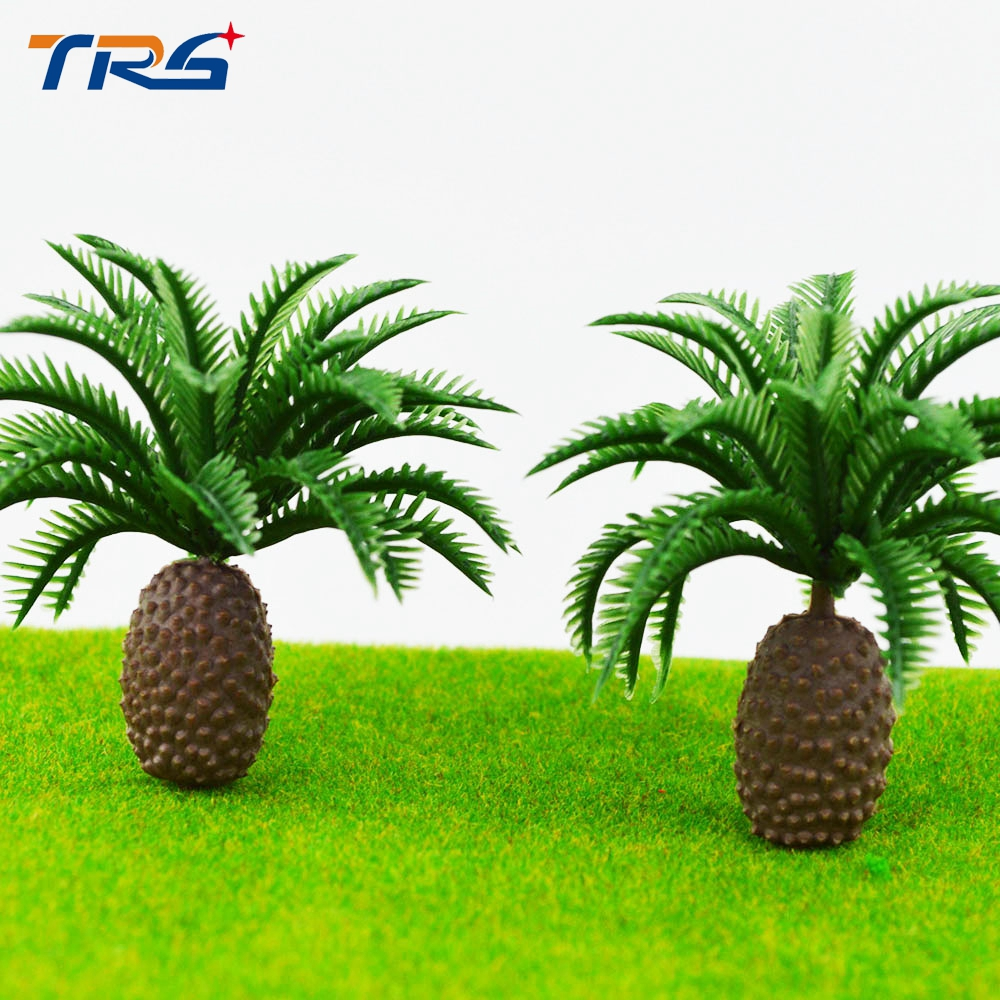 6.5cm scale model train railway scenery palm tree