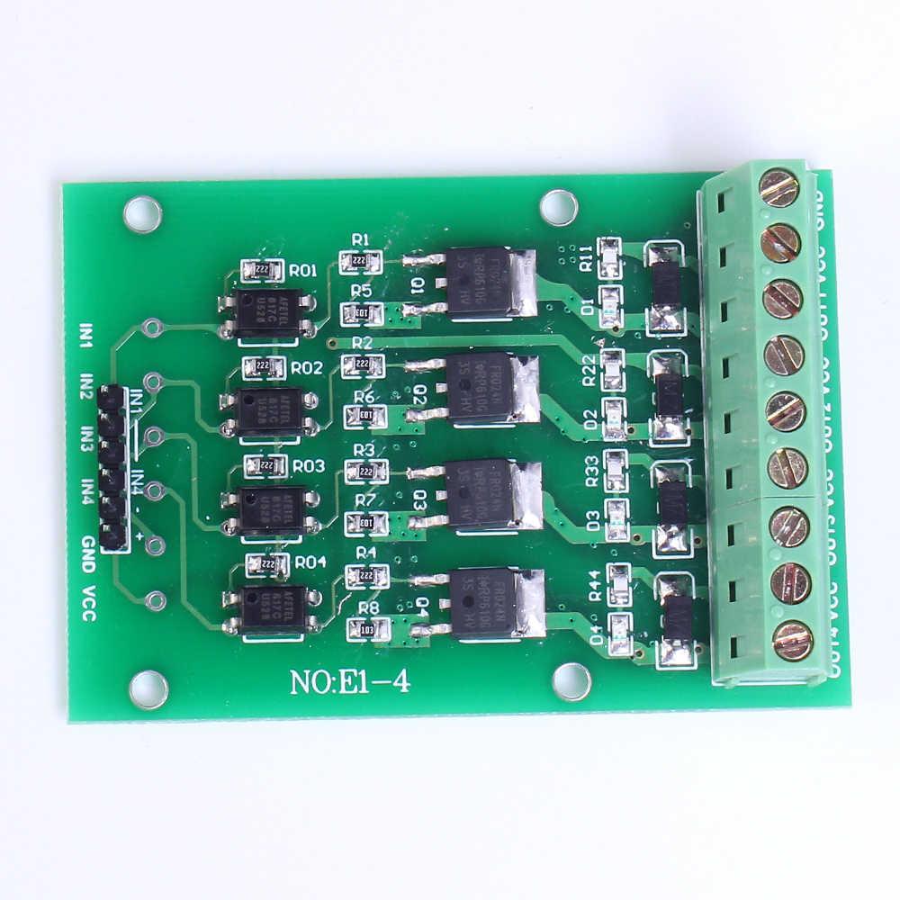 FET フォトカプラ絶縁電子スイッチモジュール 4 チャンネルパルススイッチ DC 制御 4Bit PLC トランジスタ拡張ボード FR1205