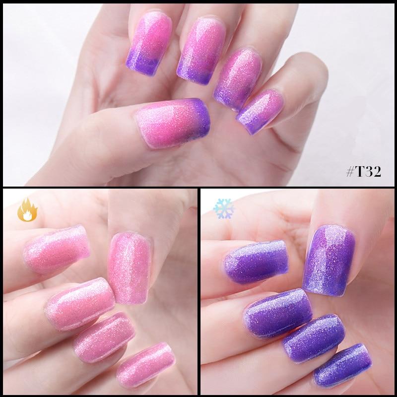 Azure Beauty 12 ml / pcs Cambio de temperatura Glitter Color Gel - Arte de uñas - foto 6