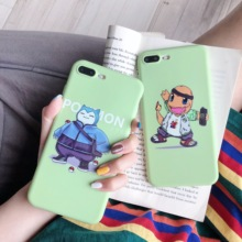 Pokemons Charmander Snorlax Cute Phone Couple Case Funny Cartoon Cover for iPhone 6 6s 7 8 Plus X XS XR XSMax