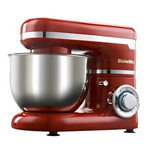 Image 2 - 1200W 4L led ışık 6 speed mutfak elektrikli gıda tezgah mikseri çırpma Blender kek hamur ekmek karıştırıcı makinesi