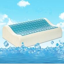 Envío Gratis 30×50 CM Salud/viajes almohada Verano almohada Hielo hidrogel Gel y Memoria Almohada almohada para el cuello cojín