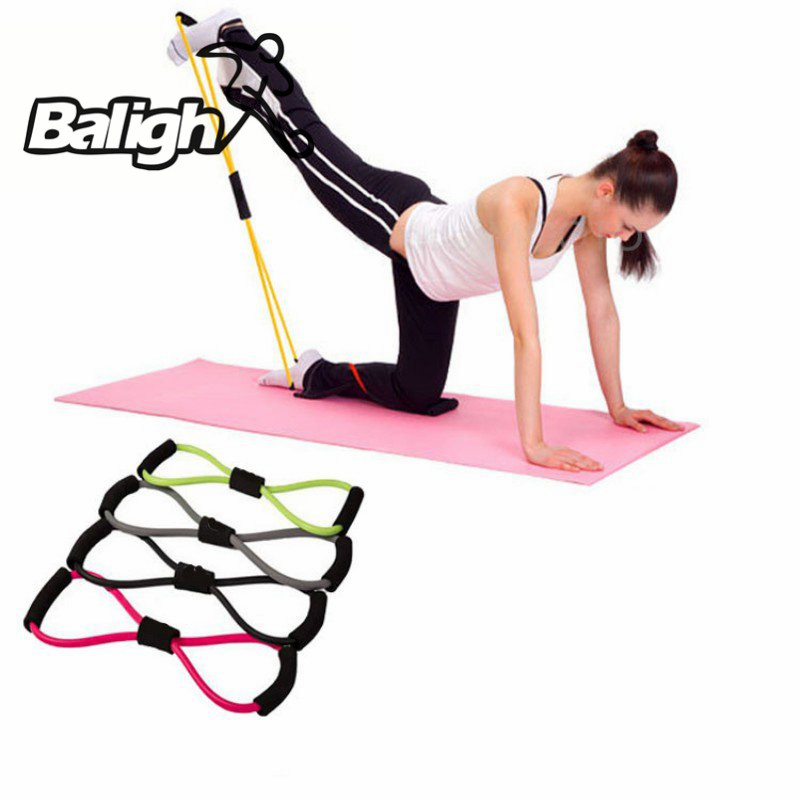 NEW Gym 8 Word Chest Developer Rubber LOOP Latex Resistance Bands Fitness equipment Stretch yoga training elastic band
