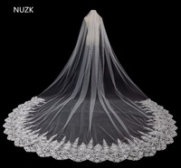 2018 New Bridal Veil Appliqued Bridal Veils 3 Meter Ivory Cathedral Wedding Veils Long Bride Mantilla Wedding Veil