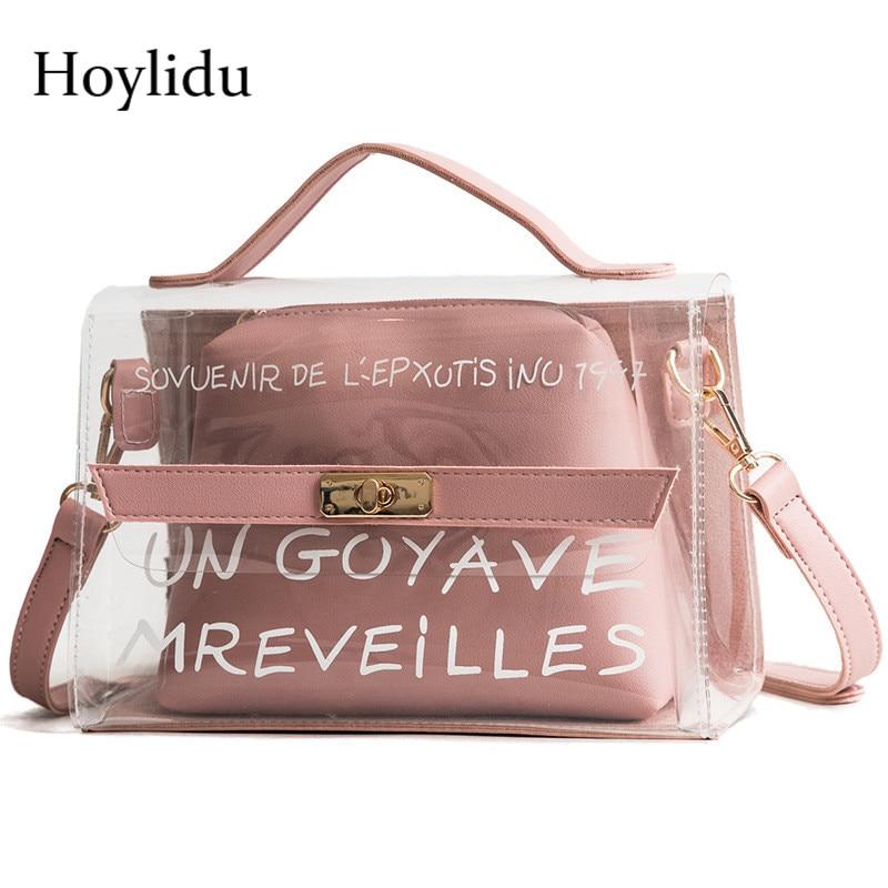 Women Chic Transparent Fashion Shoulder Bag Casual Messenger Storage Bag