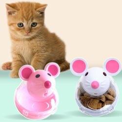Забавный для домашнего котика игрушки для кормушек мышь стакан Pet развивающие игрушечные лошадки Кошка Интерактивная игрушка утечки еда