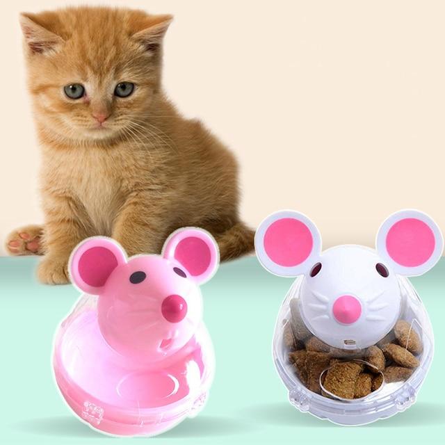 Divertente Pet Alimentatore Gatto Giocattoli Del Mouse Tumbler Da Compagnia Gioc