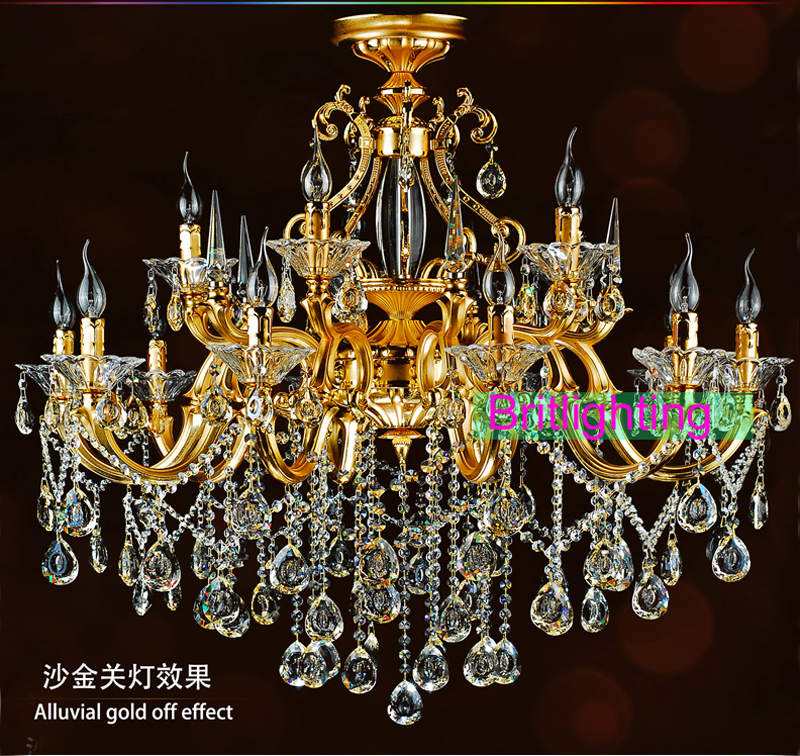 Elegant gold crystal chandelier lighting yellow crystal pendants elegant gold crystal chandelier lighting yellow crystal pendants for chandeliers led candle lighting villa copper chandelier in chandeliers from lights mozeypictures Choice Image
