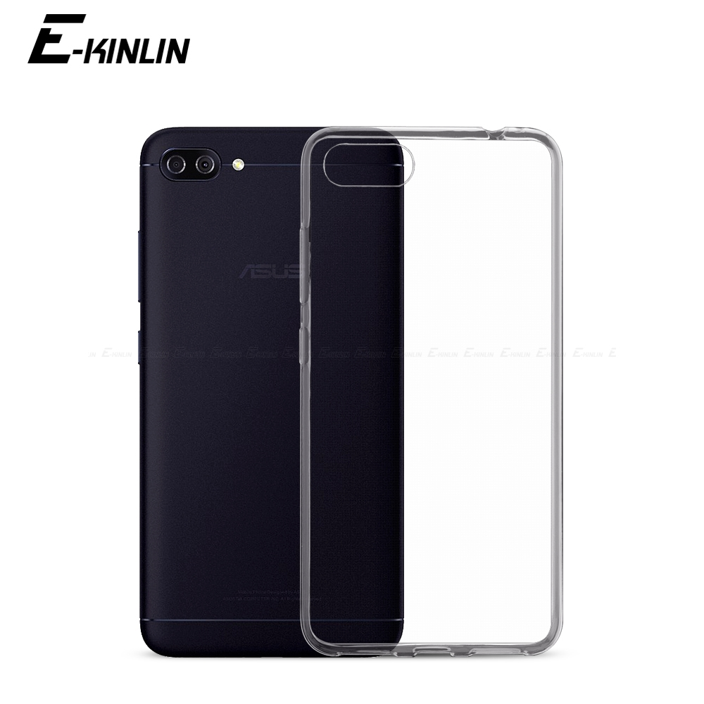 Ultra Thin Slim Clear Soft Protective TPU Case <font><b>For</b></font> <font><b>Asus</b></font> <font><b>ZenFone</b></font> 4 Max Plus Pro ZC554KL ZC520KL ZS551KL <font><b>ZE554KL</b></font> Back Phone <font><b>Cover</b></font> image