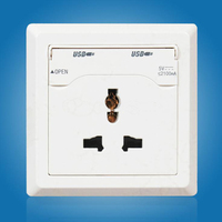 New Home EU US AU UK 2 USB Port Universal Wall Face Plate Outlet Panel Power