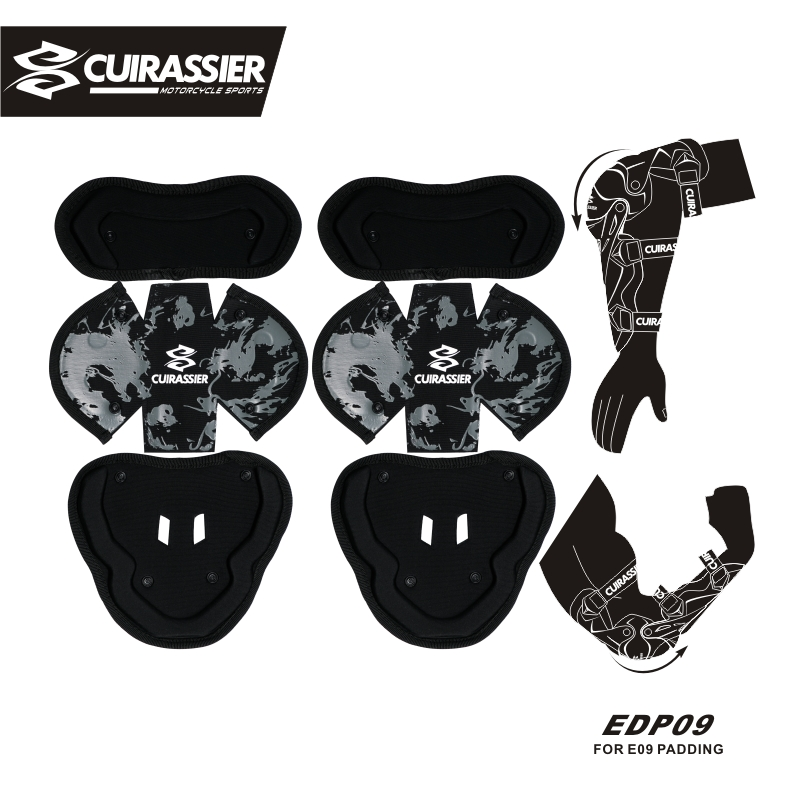 Cuirassier Motorcycle Elbow Pads MX Protector Shin Guards Pads protective Gears Paintball Skating Racing Riding Padding 5 Color