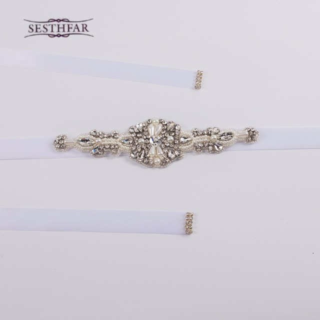 S29 Free Shipping 100% Pure handmade shinning Bridal Belts Crystal Rhinestone Wedding Dress Accesories Sash