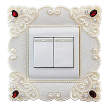 European creative switch protection cover acrylic stickers decorative wall living room outlet L003