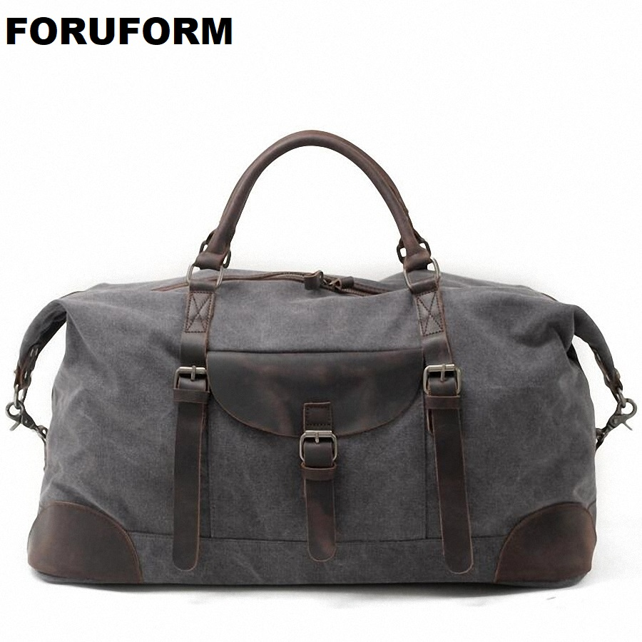 2018 New Vintage Men Canvas Handbag High Quality Travel Bags Large Capacity Women Luggage Travel Duffle Bags Folding Bag LI-1862 2017 new fashion brand vintage backpack large capacity men male luggage bag canvas travel bags top quality travel duffle bag man