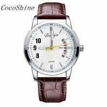 Duoya zm-856 frete grátis & atacado new couro relógios homens da moda cinto de mulheres/menina/senhora relógio de quartzo assistir à prova d' água relógios de pulso