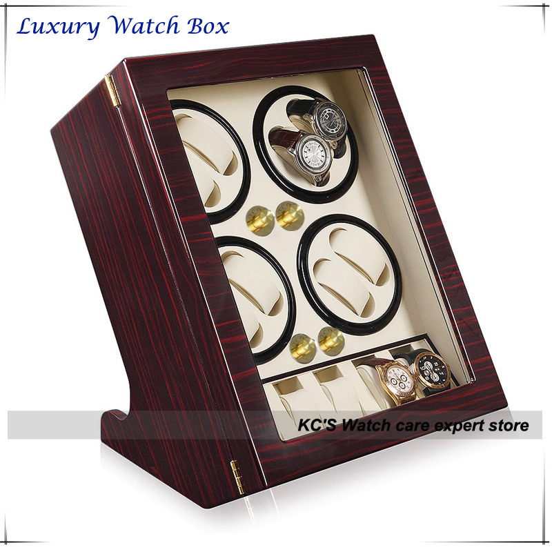 Quality Leather & Wooden Watch Winders Case for RLX 8 + 5 Storage Display Case Box GC03-Q88EW winders rockers