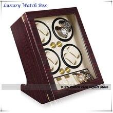 Качество кожи и деревянный часы каталки чехол для RLX 8 + 5 хранение дисплей чехол коробка GC03-Q88EW
