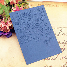 HOT plastic lily template craft card making paper card album wedding decoration scrapbooking Embossing folders