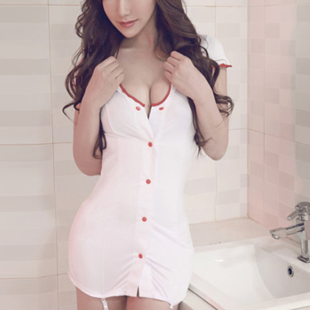 Hot Nurse Erotic Lingerie Fantasy Porn Sexy Costume Temptation Nuisette Women Sexy Lingerie Sex Dress