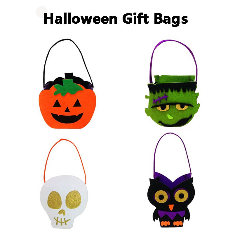 Alert 4pcs Halloween Non-woven Gift Bags Portable Party Decoration Candy Pumpkin Bag Kids Creative Handmade Toys Holiday Supplies In Many Styles