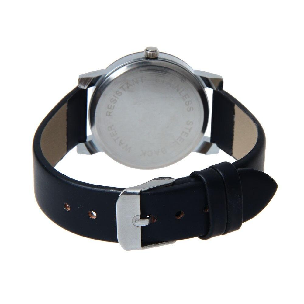 Wrist Watch For Men Women Watches  Needle Dial Clock Quartz-watch Male Wristwatch Casual Business Leather Dropship F528 3