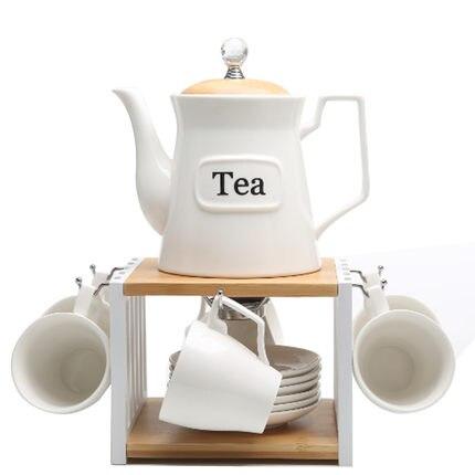 Tasse en céramique européenne tasse à café ensemble créatif Simple ménage fleur thé tasse anglais après midi thé ensemble intégré chauffage bureau