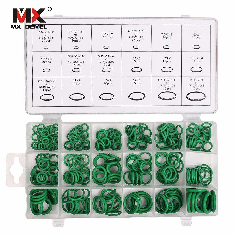 MX-DEMEL 270 pcs 18 Tamanhos Kit de Borracha HNBR Anéis Car Auto Ferramentas de Reparação de Ar Condicionado compressor de Ar Condicionado Refrigerante Anel conjuntos