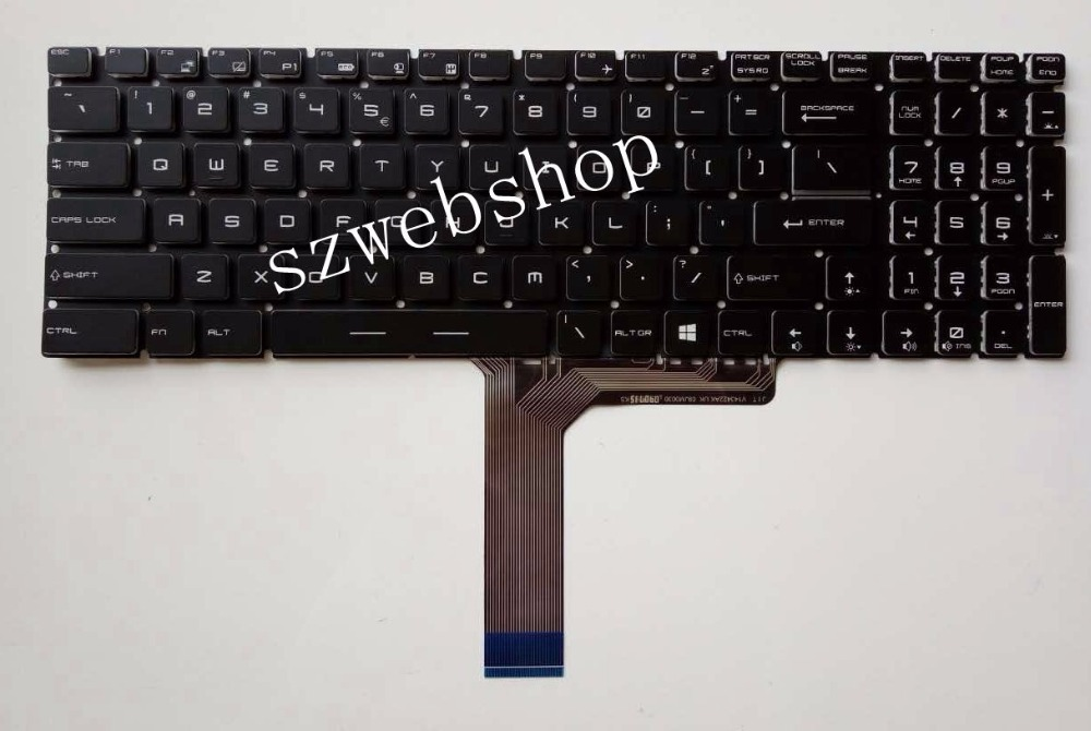 New for MSI WS72 GT72S WT72 WT72 6QN English US laptop Keyboard no backlit no frame black  цены онлайн