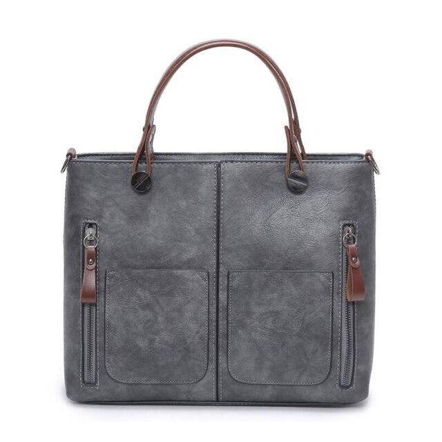 Vintage Leather Handbags for Lady Locomotive Bag Retro Sac Patchwork PU Cross body Hand bag Fashion Design Women Zipper Handbag