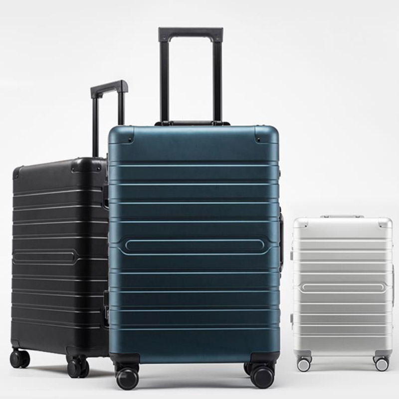 TRAVEL TALE men spinner cabin suitcase aluminium traveling rolling luggage bags 20 24 28