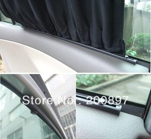 70cm width Universal alloy upper rails Car side window sunshade curtain S-height 40cm L & 70cm width Universal alloy upper rails Car side window sunshade ...