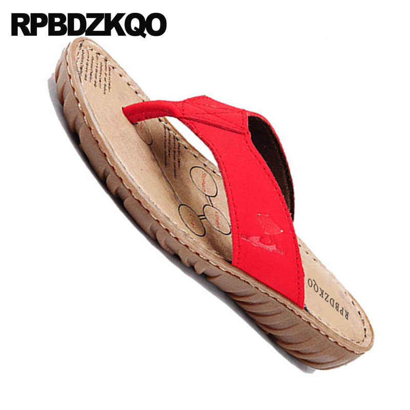 fadb4fbf05f2 ... Slides Casual Red Sandals 2018 Wide Fit Shoes Ladies Plain Fashion  Summer Chinese Beach Women Slippers ...