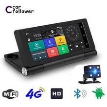 """"""" 4G Wifi ADAS Автомобильный видеорегистратор Dash камера Android 5,1 Full HD 1080P GPS навигация видео рекордер Bluetooth двойной объектив видеорегистратор"""