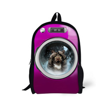 FORUDESIGNS School Bag Child Backpack Animal Dog Print Girls Bagpack Mochila Animal Cat Cute Kids Casual Book Bags Mochila недорого